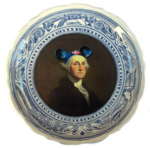 Altered Antique Plate- Forefathers