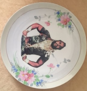 Altered Antique Plate- Mr. T