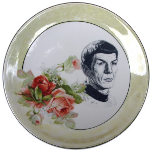 Altered Antique Plate- Spock