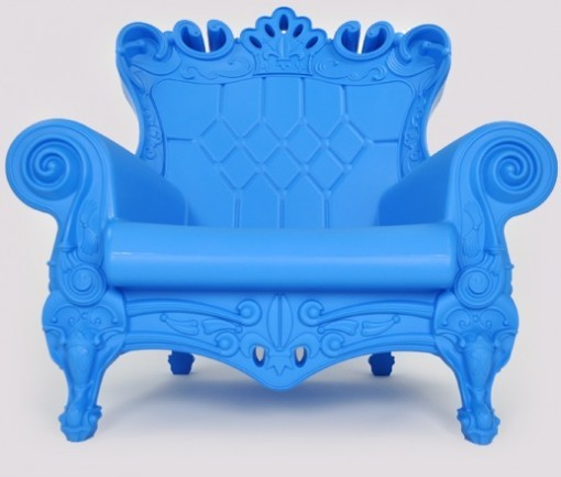 Queen Arm Chair Light Blue