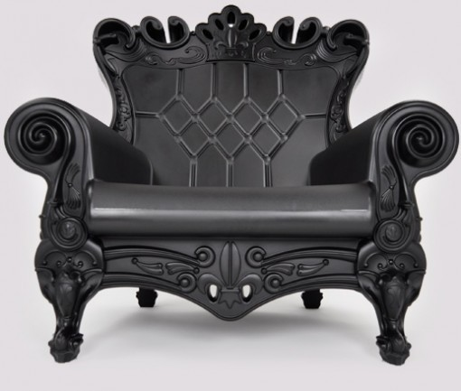Queen Arm Chair Black