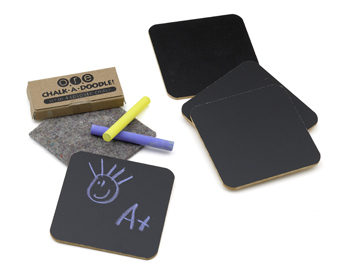 C501B Chalk Coasters Use
