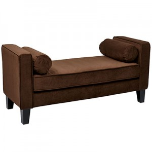 CVS20-C12 Velveteen Bench- Chocolate-2