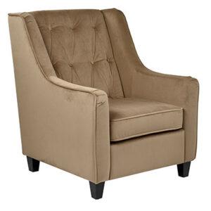 CVS51-C27 Diamond Tufted Armchair- Coffee