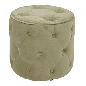CVS905-G28 Diamond Tufted Ottoman- Verde