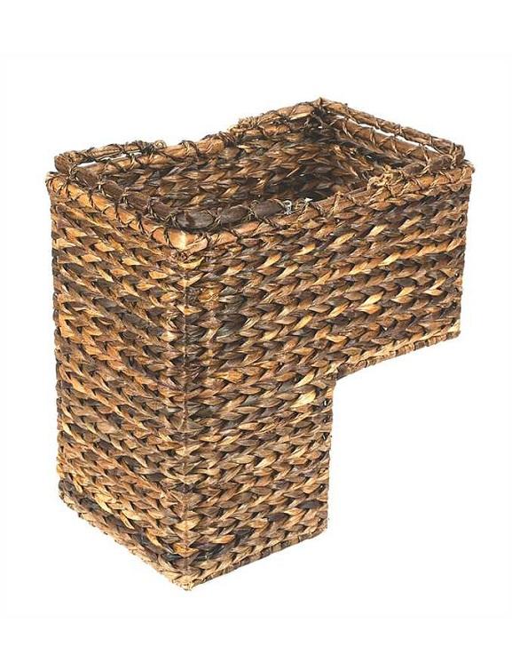 Natural Woven Stair Basket Organizer
