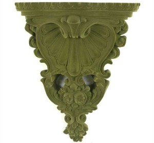 DA3590 Flocked Wall Shelf- Verde