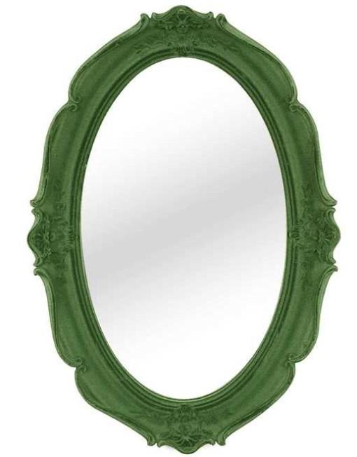 DA3593 Flocked Mirror- Green