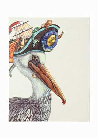 DA4110A_thePHAGshop_Beach Bird Canvas Art- Pelican