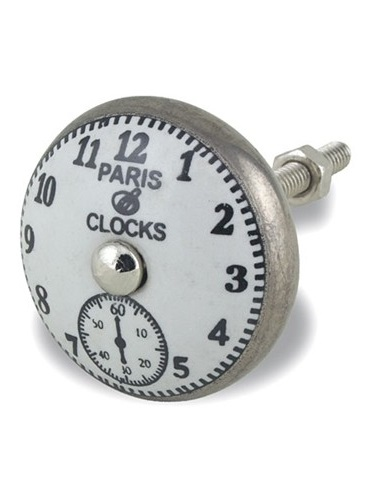 DNB32_thePHAGshop_Decorative Paris Clock Knob- Pewter