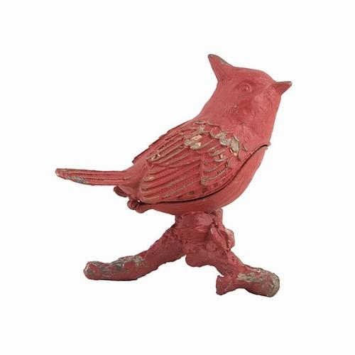 EA355_thePHAGshop_RED BIRD Hinged Trinket Box- Cardinal