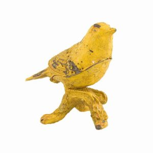 EA356_thePHAGshop_YELLOW BIRD Hinged Trinket Box- Canary