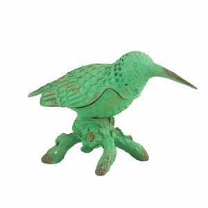 EA357_thePHAGshop_GREEN BIRD Hinged Trinket Box- Hummingbird