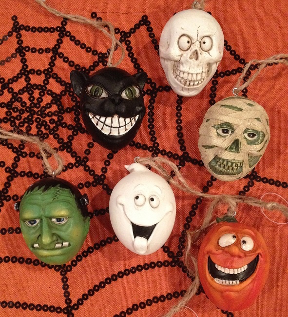 ED157 Set 6- Halloween Head Ornaments-2