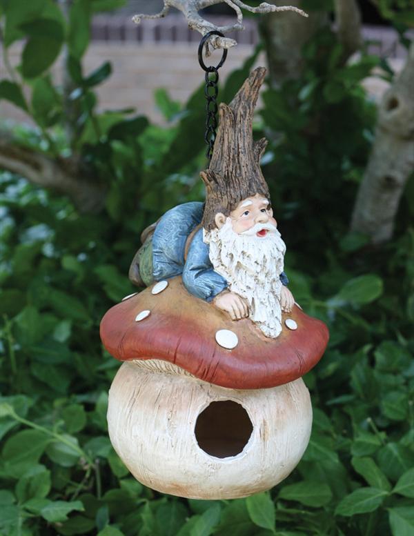 GA 50250321 Novelty Birdhouse- Gnome