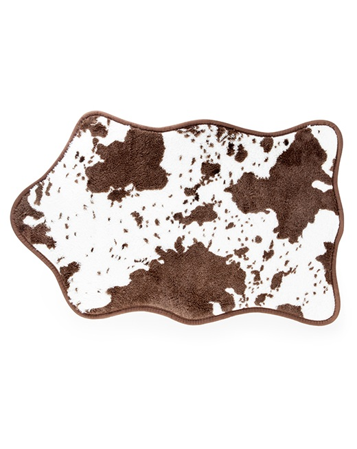 HW36-BR_thePHAGshop_ Novelty Bovine Bath Mat- Brown