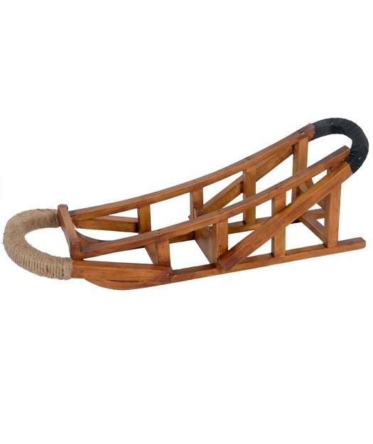 JS531_thePHAGshop_Classic Wood Sled Rustic Wine Holder