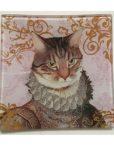 KA148_thePHAGshop_ Royal Feline Decorative Glass Cat Trays- Detail 2