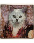 KA148_thePHAGshop_ Royal Feline Decorative Glass Cat Trays- Detail 3