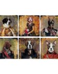 KA149_thePHAGshop_Royal Canine Decorative Glass Dog Trays- Set 6