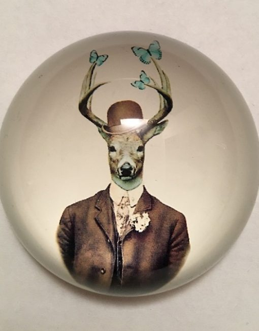 KA174_thePHAGshop_Dapper Deer Glass Paperweight