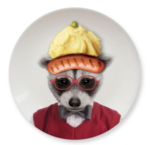M 12013A Wild Appetizer Plate- Racoon
