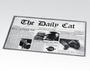 Newsprint Placemat-The daily cat