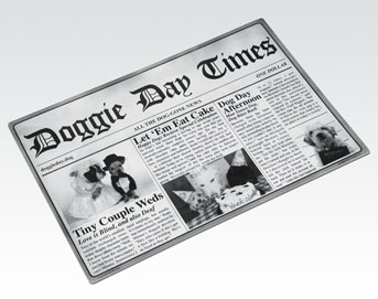 Newsprint placemat-Doggie day Times
