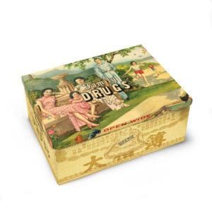 Nov tin Cigar box- family Drugs