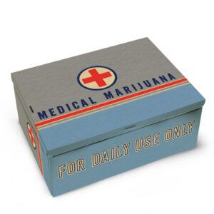 Nov tin cigar box- Medical Marijuana
