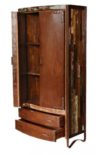 OC3025 Reclaimed Armoire- Open