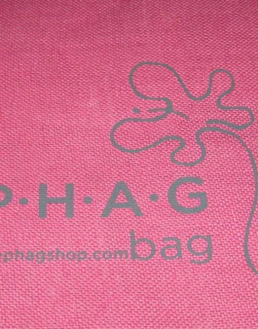 PHAG Jute Tote- Logo Detail