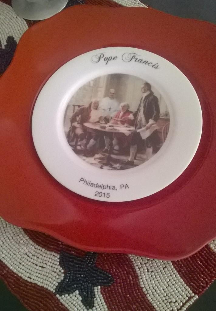 Pope Declaration Plate- Festive