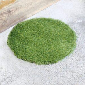 SGDS2031_thePHAGshop_Green Grass Floor Mat- Round