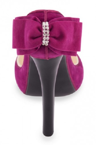 SHOE207 Magenta Suede Back