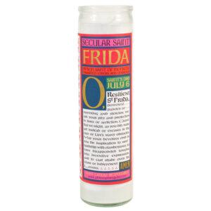 Secular Saint Frida Candle- Back