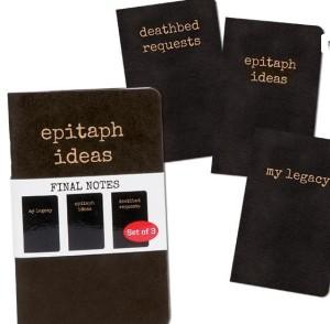 Set 3- Novelty Notebooks- RIP