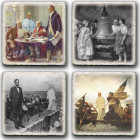 Set 4 Historic Pope Coasters