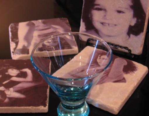 Set 4- Vintage Madonna Marble Coasters- Use