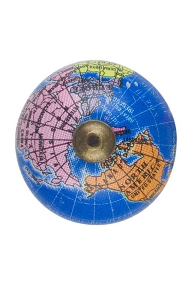 TA21_thePHAGshop_Decorative Blue Globe Knob- Small