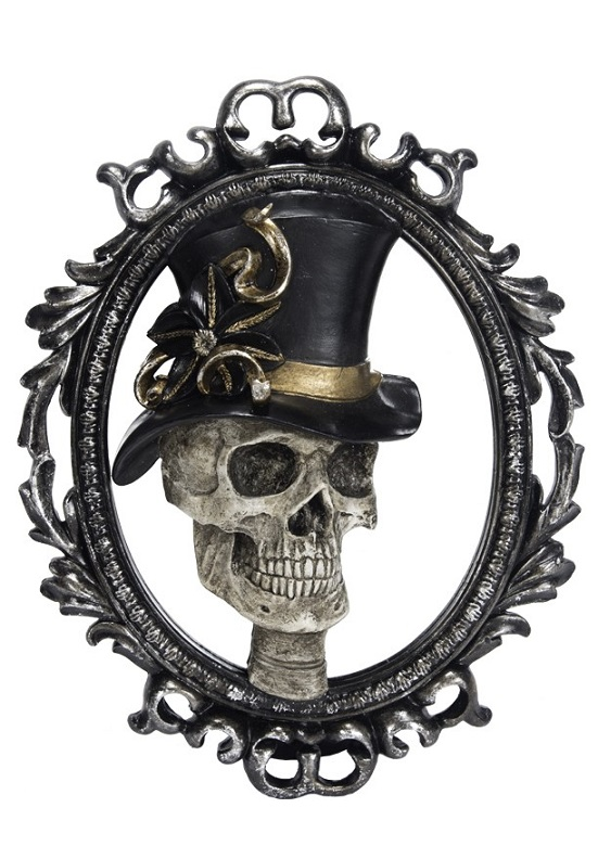 UN547_thePHAGshop_Sculpted Gentleman Skull Mirror