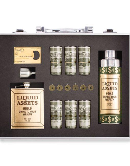 WBSET999_thePHAGshop_Liquid Assets Breifcase Bar Set- Open