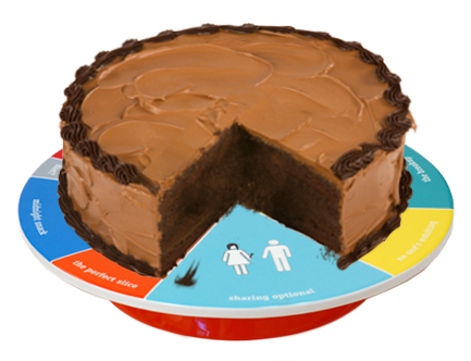 WCAKE20_thePHAGshop_Wheel of Portion Novelty Cake Platter- Use