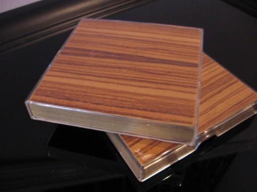 Wood-Grain Photo Coasters