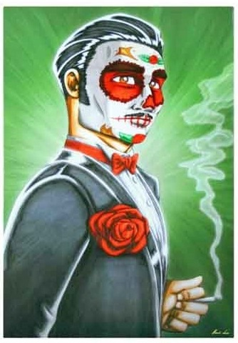 XC169_thePHAGshop_Master Marcos_Male Sugar Skull- Day of the Dead Art