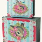 XM 205124 Set 2- Novelty Little Doe Tin Boxes