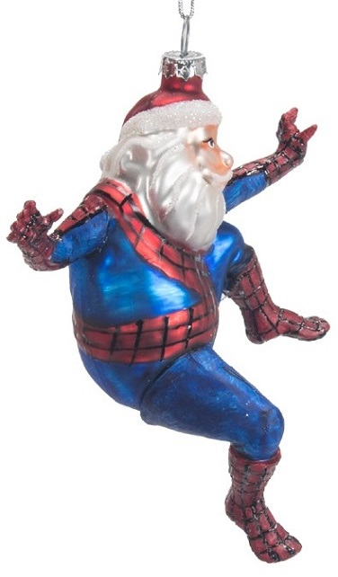 ZM433_thePHAGshop_Spiderman Santa- Super Santa Ornament