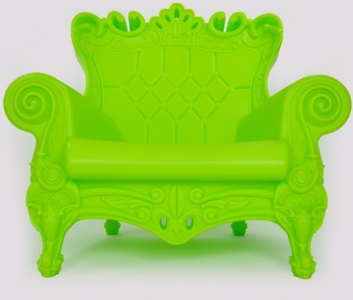 Queen Arm Chair green