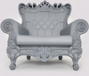Queen Arm Chair Silver