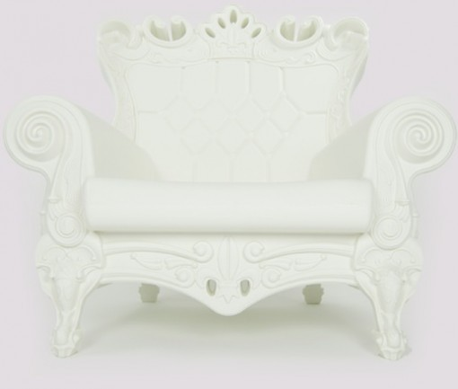 Queen Arm Chair White